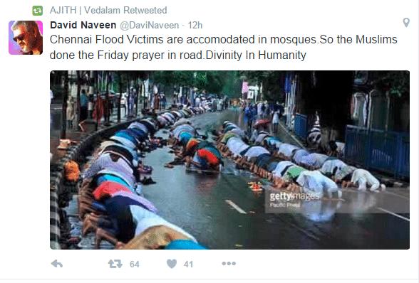 align thoughts -muslimsPrayingChennaiRain