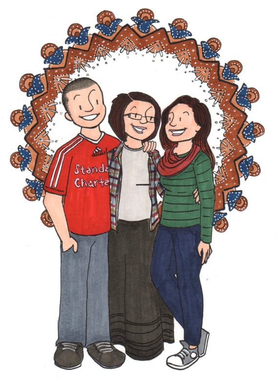 align thoughts-custom-family-gifts-cartoon-photo
