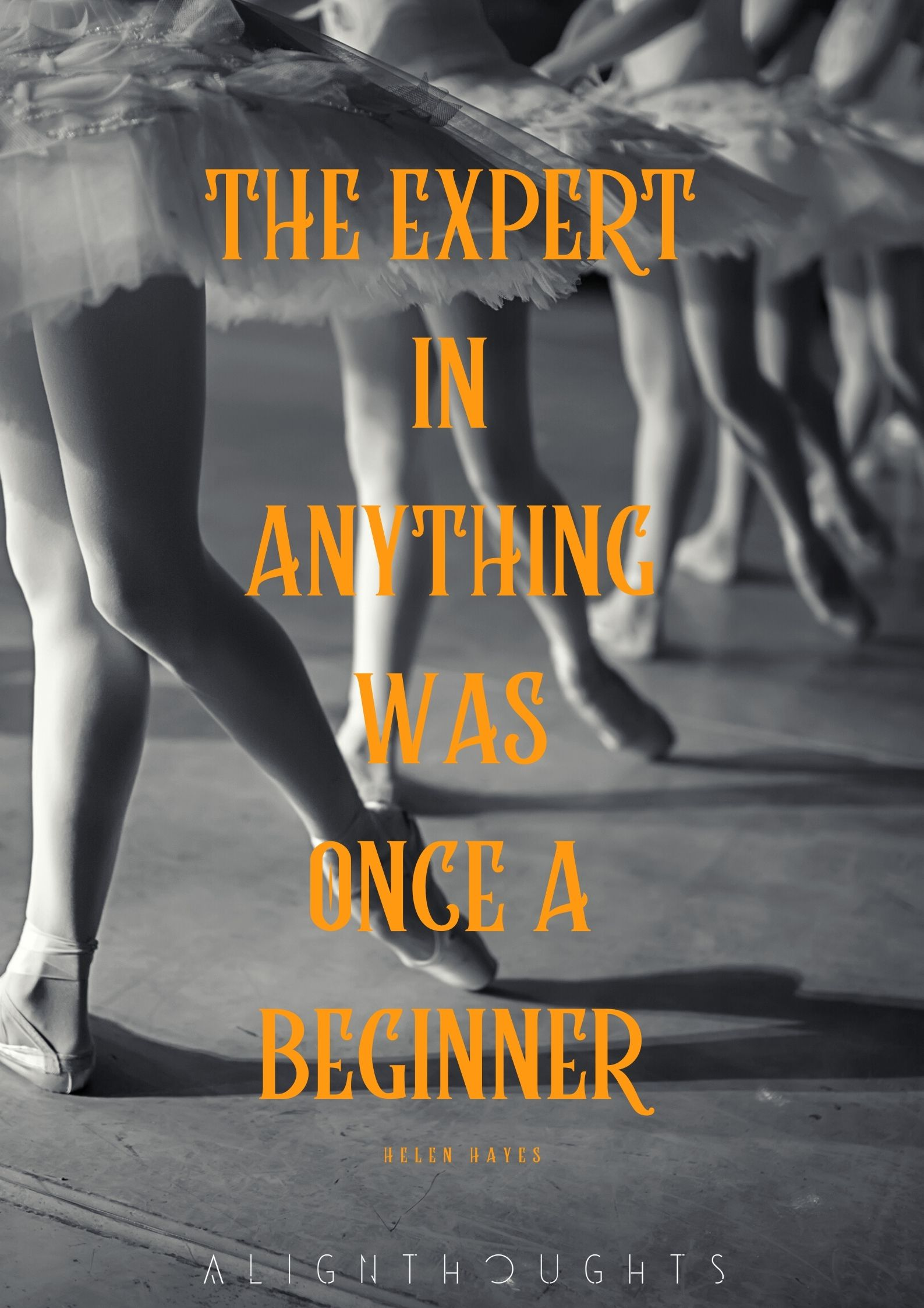 the expert in anything was once a beginner quote poster-alignthoughts