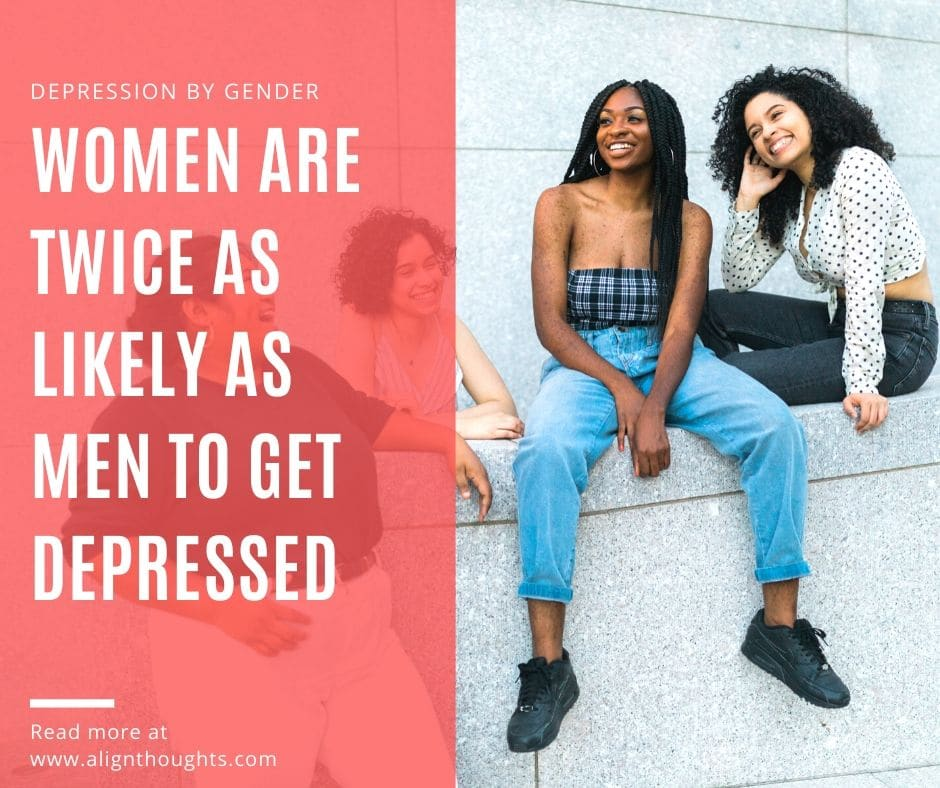 depression by gender-women get more depressed