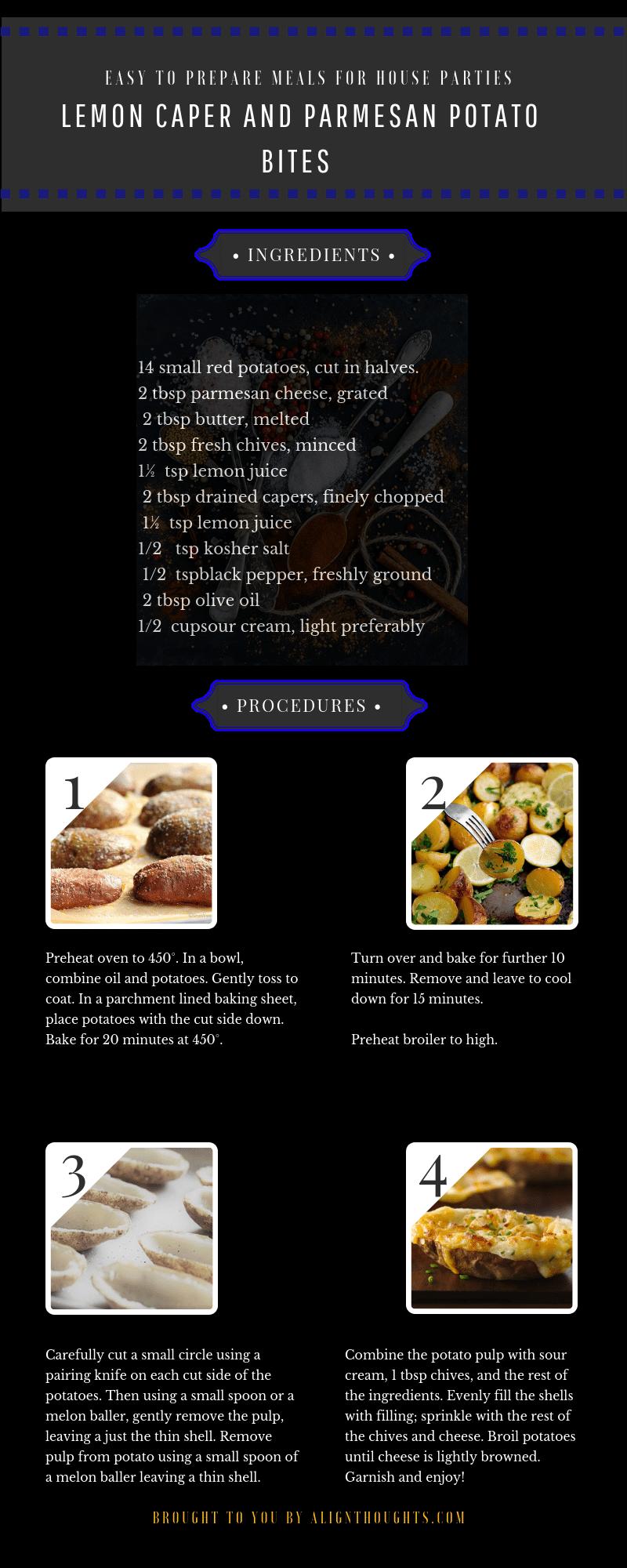 How To Prepare Lemon Caper and Parmesan Potato Bites
