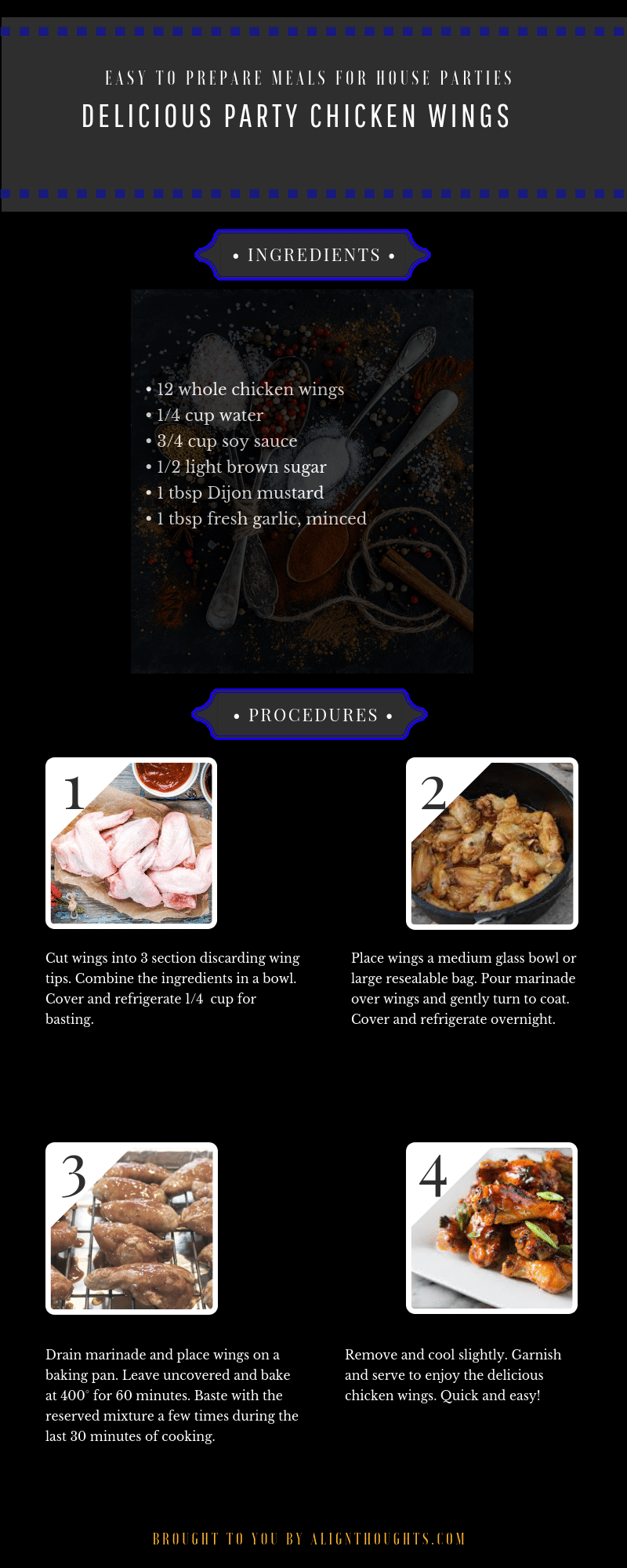 How to make Delicious party chicken wings