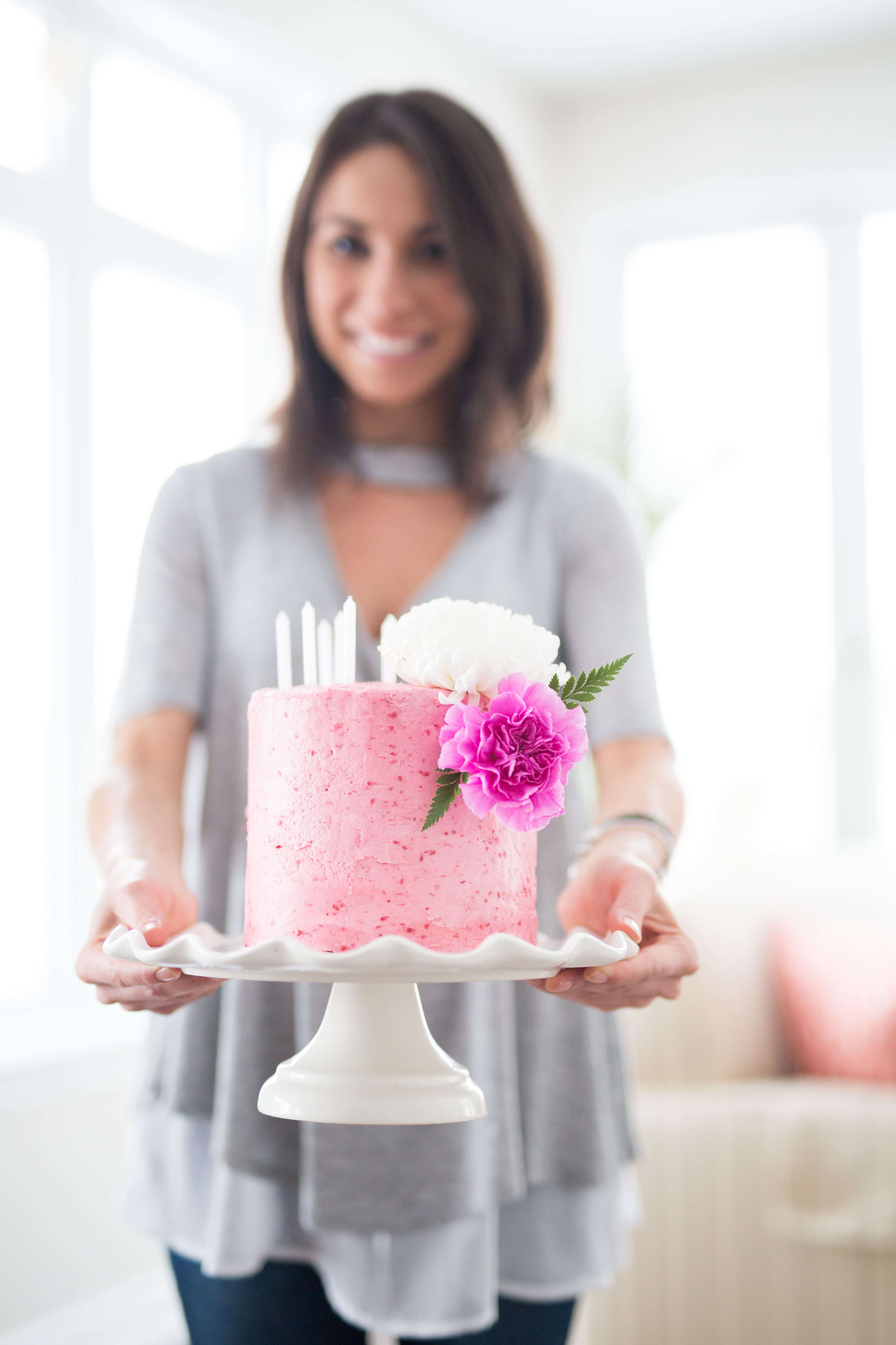 Simple Buttercream Frosting Cake Recipe-AlignThoughts