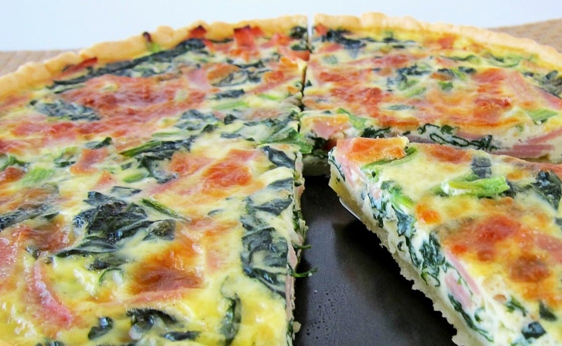 Ham & Spinach Quiche-Easter