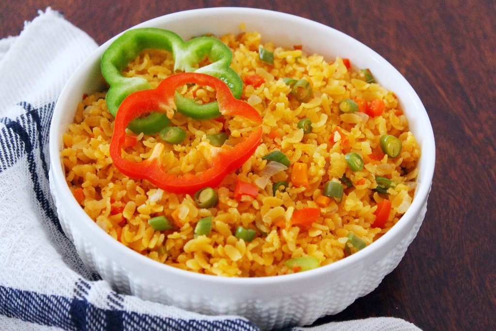 Vegetable-Poha-lunchbox-recipes-for-kids