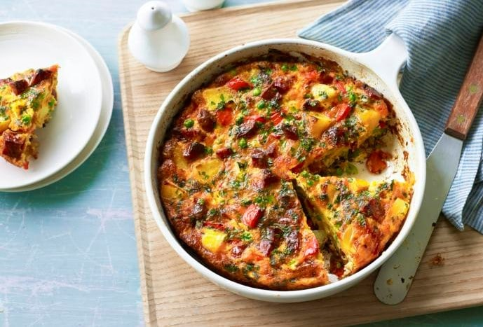 Chorizo and Frittata-Egg-Recipe-For-Dinner