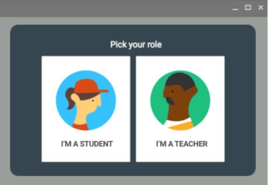 Google classroonm roles-student-teacher