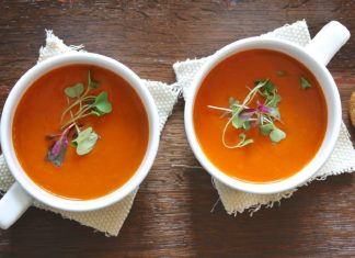 Vegetables and Tomato Diet Soup-alignthoughts