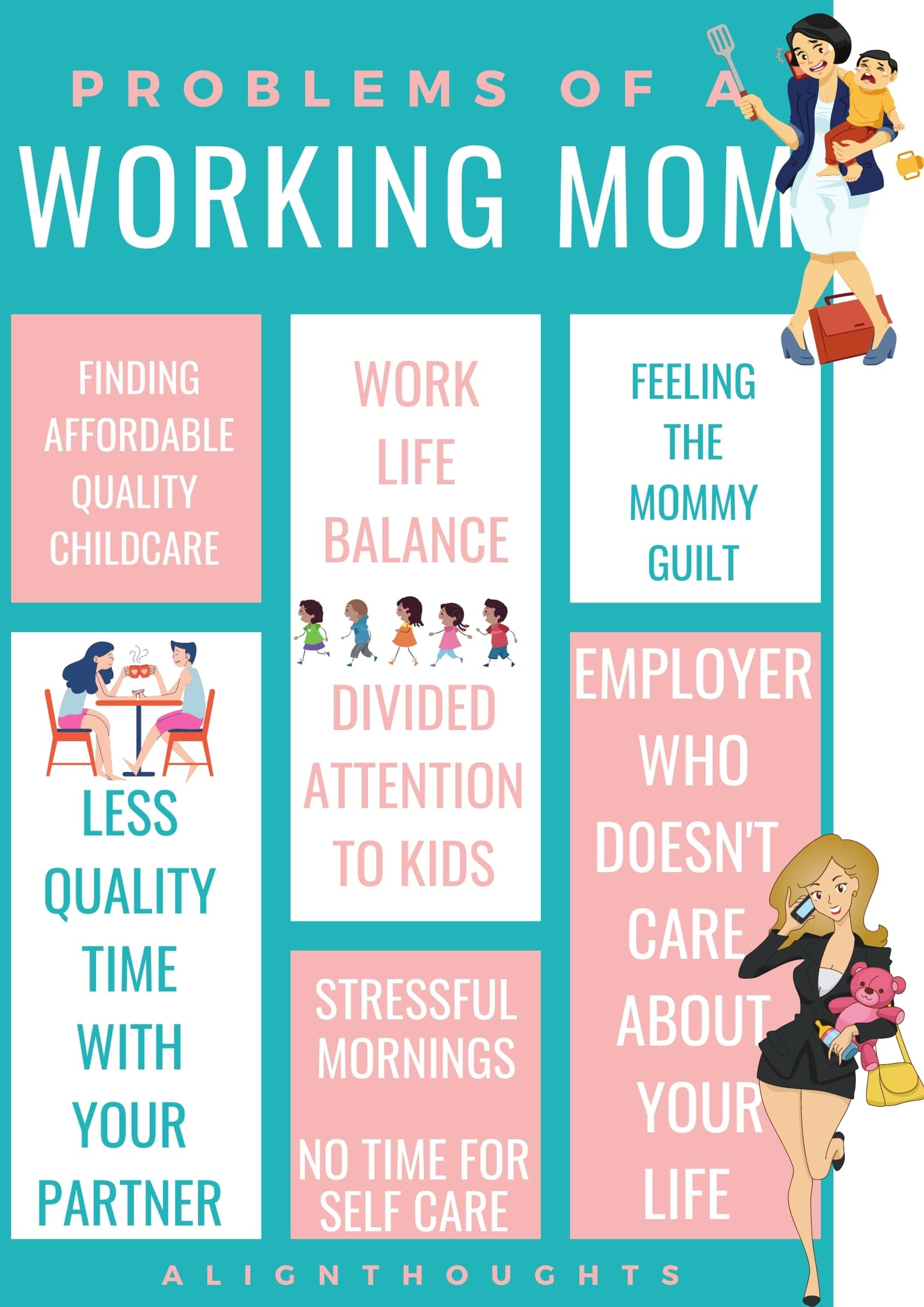 struggling being the working mom tips-alignthoughts