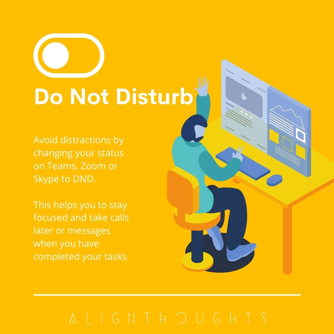 tips to improve productivity remote work-alignthoughts