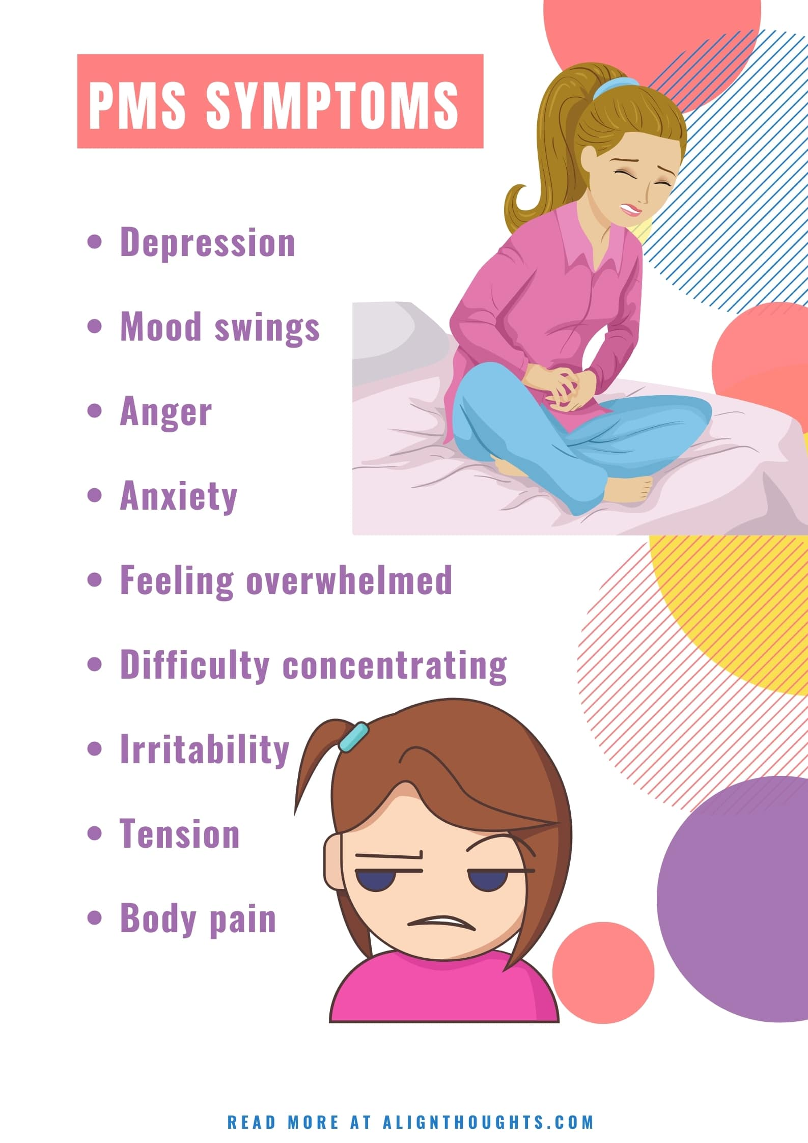 pms symptoms-how-to-deal with period pain-alignthoughts