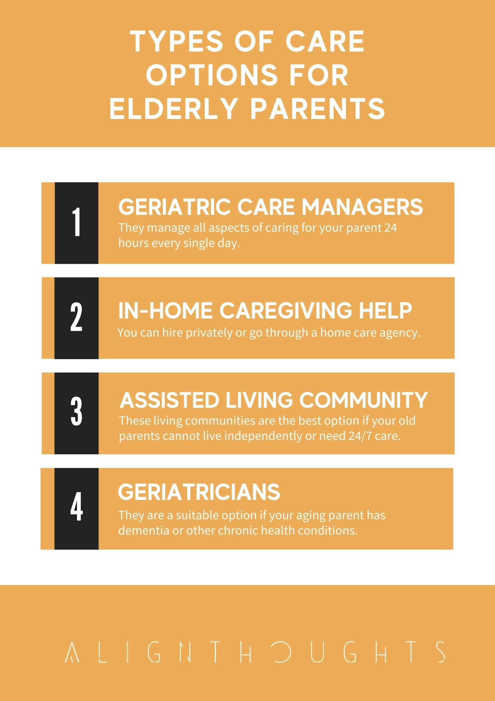 Types of Care Options For Elderly Parents-alignthoughts