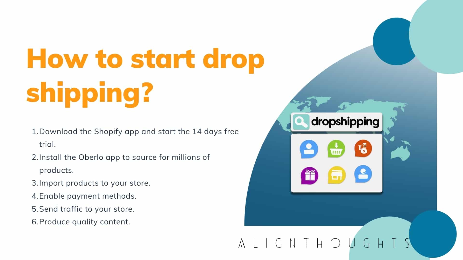 How to start online dropshipping-alignthoughts